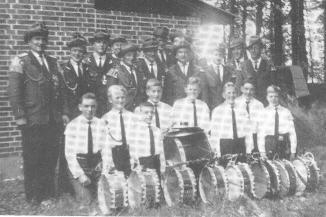 Spielmannszug mit Nachwuchs 1963